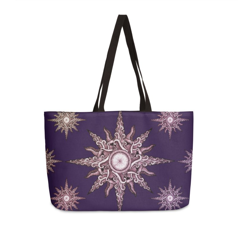 Psychedelic windrose Accessories Weekender Bag Bag by Beatrizxe