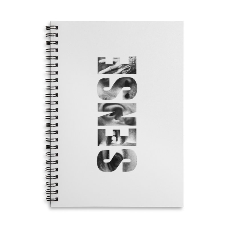 Sense (White background) Accessories Lined Spiral Notebook by Beatrizxe