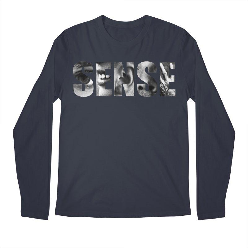 Sense (Black Background) Men's Longsleeve T-Shirt by Beatrizxe