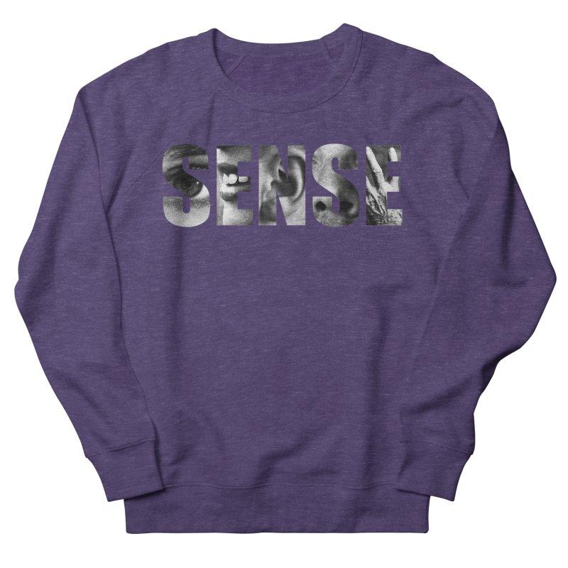 Sense (Black Background) Men's French Terry Sweatshirt by Beatrizxe
