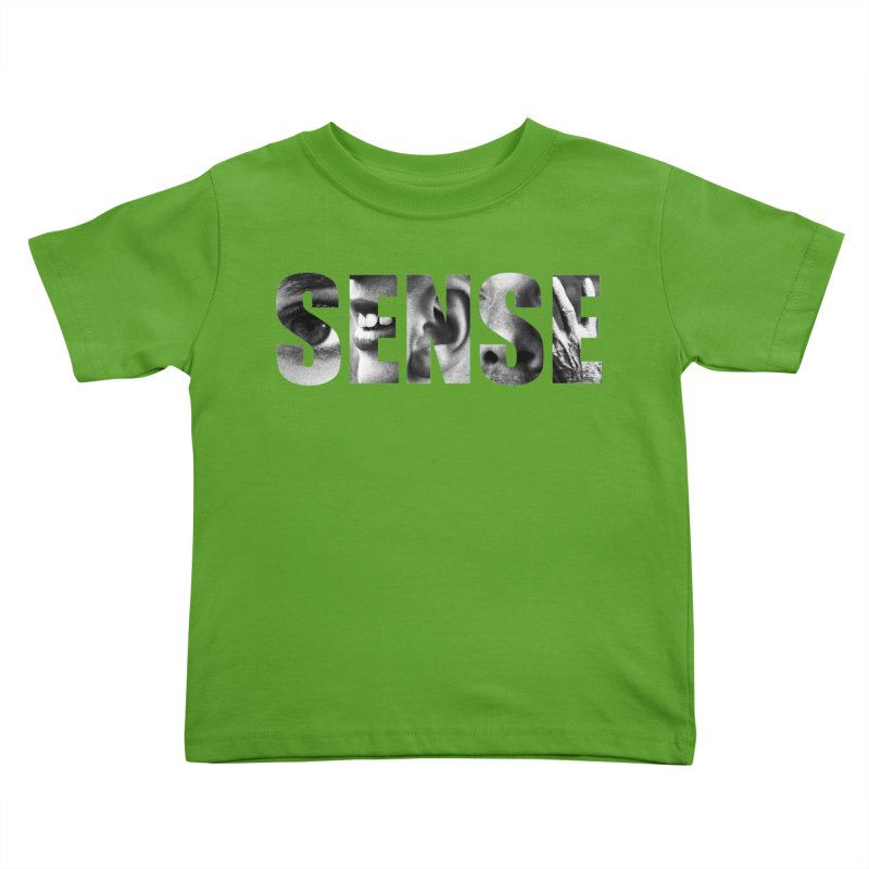 Sense (Black Background) Kids Toddler T-Shirt by Beatrizxe
