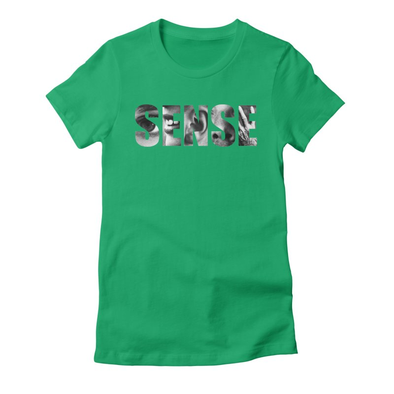 Sense (Black Background) Women's Fitted T-Shirt by Beatrizxe