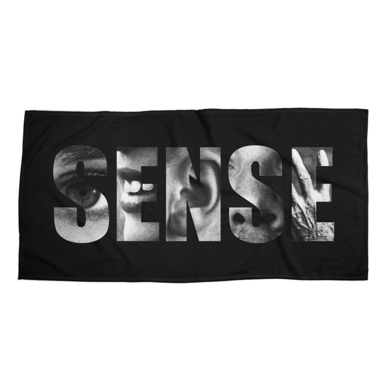 Sense (Black Background) Accessories Beach Towel by Beatrizxe