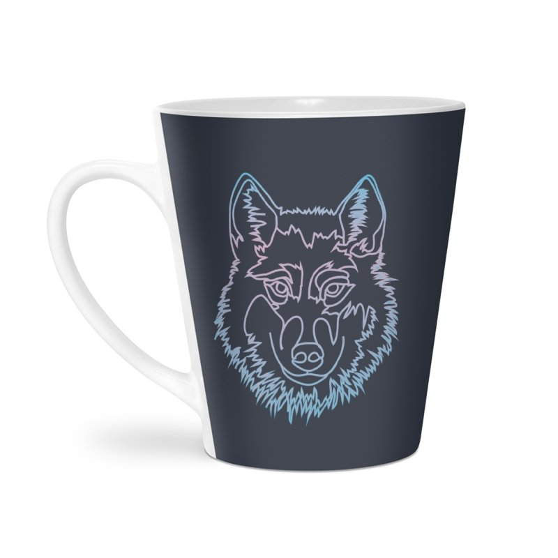 Vector wolf in one line Accessories Mug by Beatrizxe