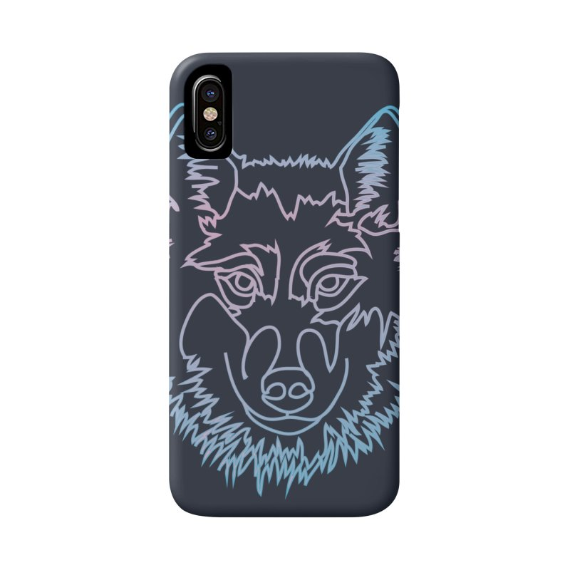 Vector wolf in one line Accessories Phone Case by Beatrizxe