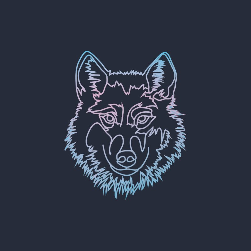 Vector wolf in one line by Beatrizxe