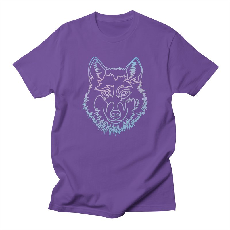 Vector wolf in one line Women's Regular Unisex T-Shirt by Beatrizxe