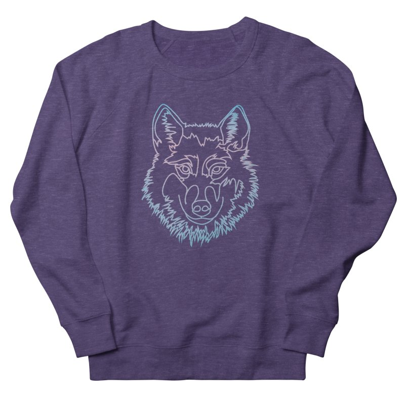 Vector wolf in one line Men's French Terry Sweatshirt by Beatrizxe