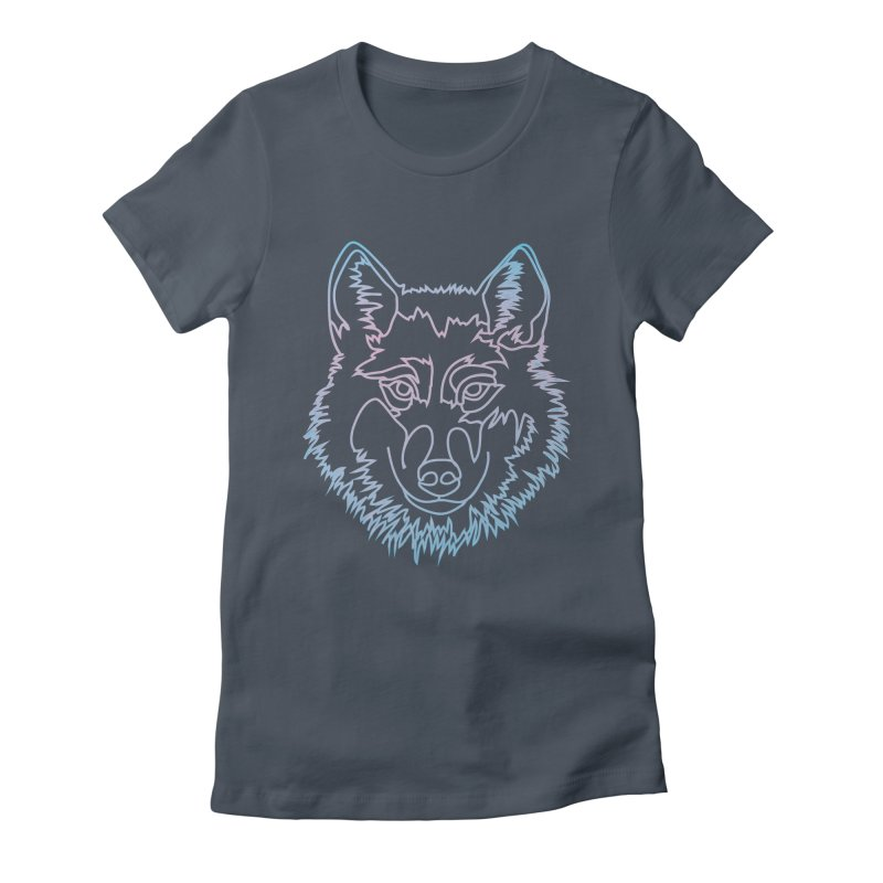 Vector wolf in one line Women's T-Shirt by Beatrizxe