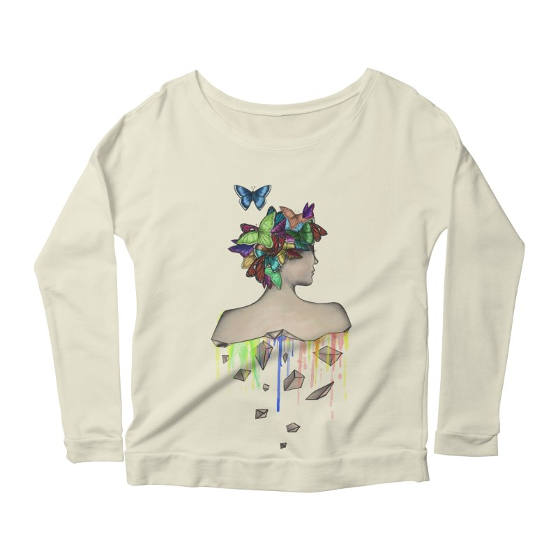 Metamorphosis Girl Women's Longsleeve Scoopneck  by Beatrizxe