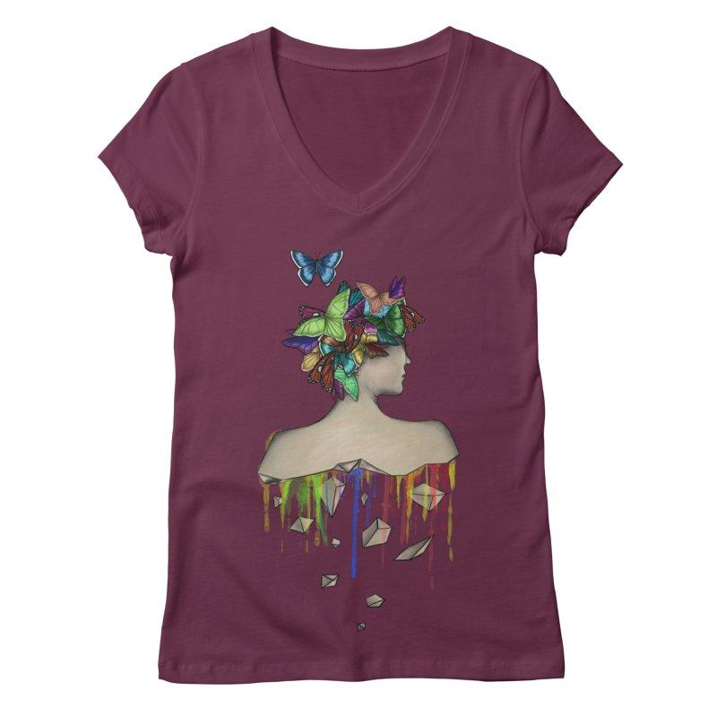 Metamorphosis Girl Women's V-Neck by Beatrizxe