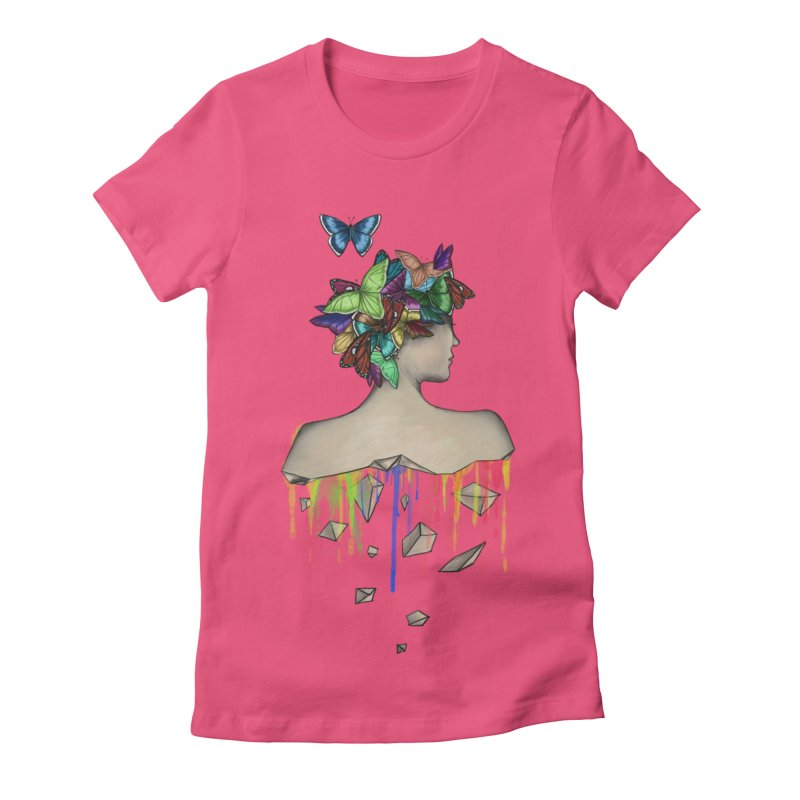 Metamorphosis Girl Women's Fitted T-Shirt by Beatrizxe