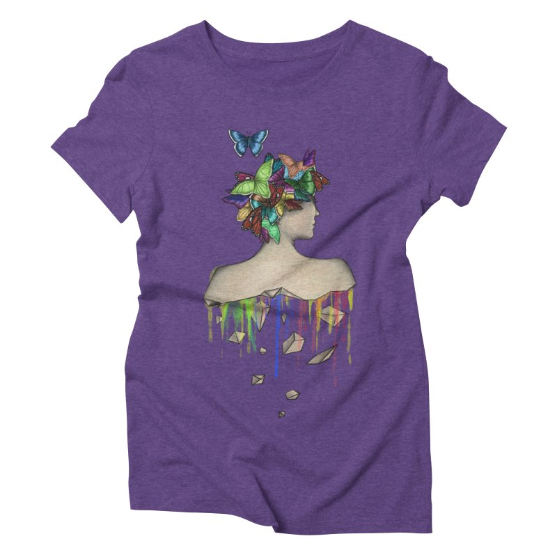 Metamorphosis Girl Women's Triblend T-Shirt by Beatrizxe