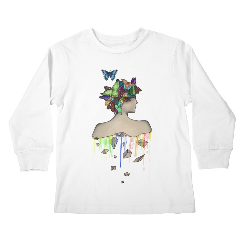 Metamorphosis Girl Kids Longsleeve T-Shirt by Beatrizxe