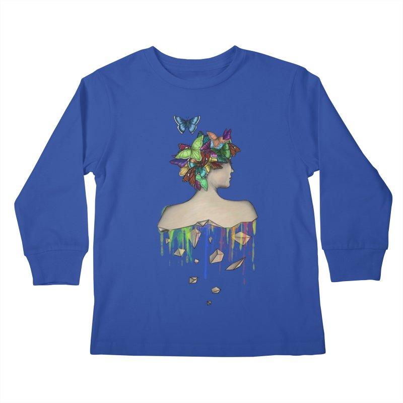 Metamorphosis Girl Kids Longsleeve T-Shirt by Beatrizxe