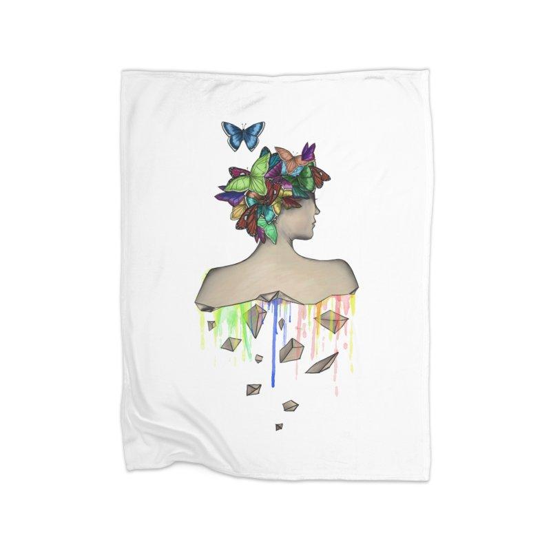 Metamorphosis Girl Home Fleece Blanket by Beatrizxe
