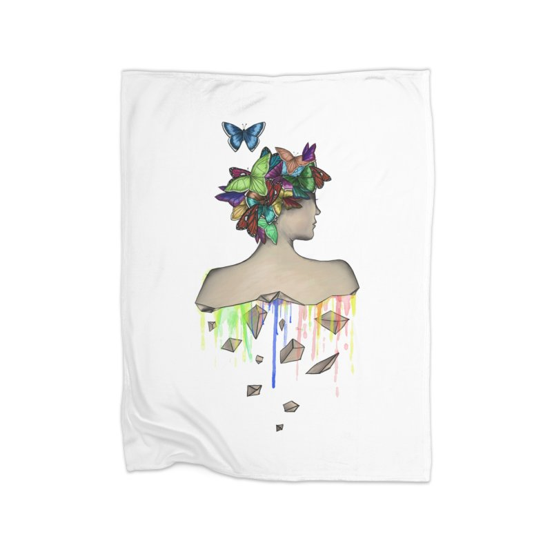 Metamorphosis Girl Home Fleece Blanket Blanket by Beatrizxe