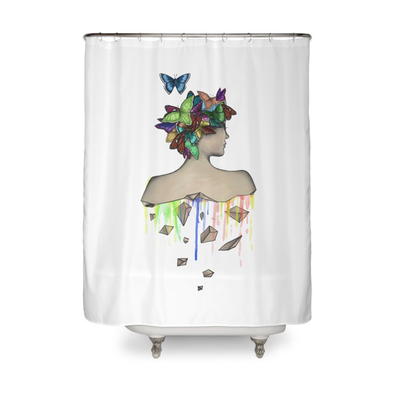 Metamorphosis Girl Home Shower Curtain by Beatrizxe