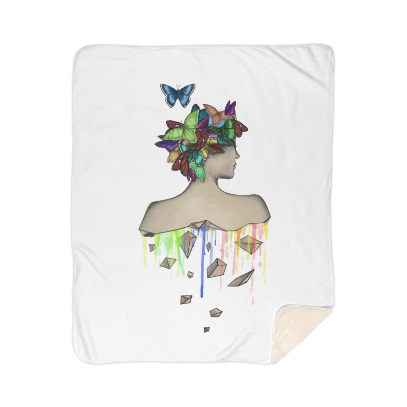 Metamorphosis Girl Home Sherpa Blanket Blanket by Beatrizxe