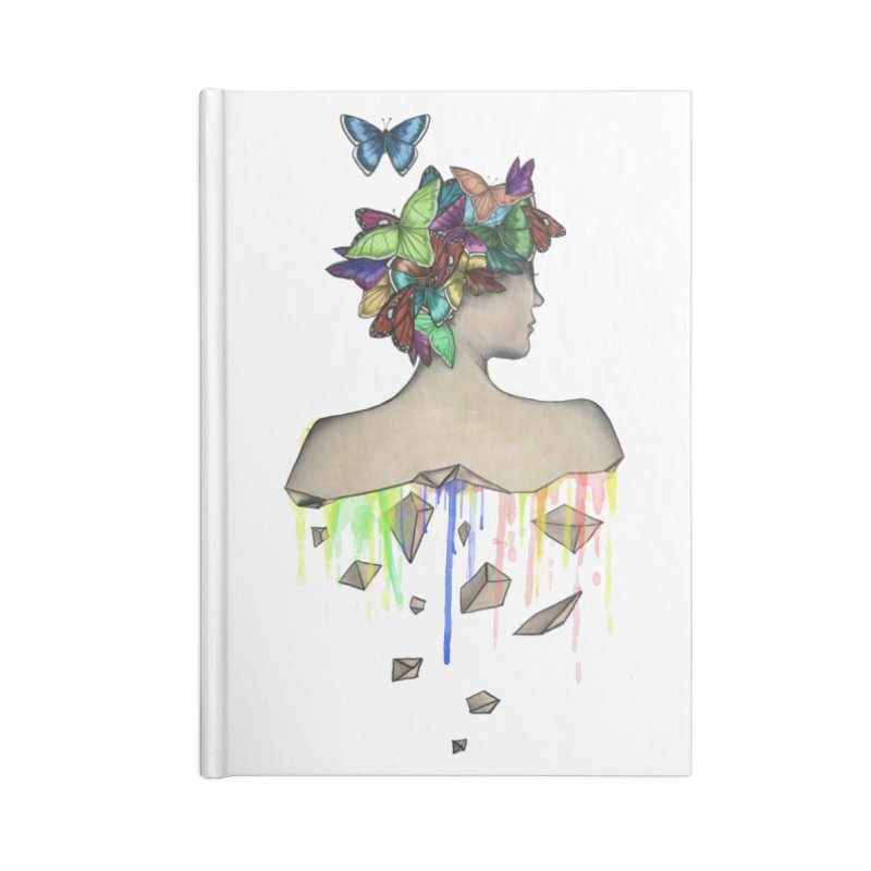 Metamorphosis Girl Accessories Lined Journal Notebook by Beatrizxe