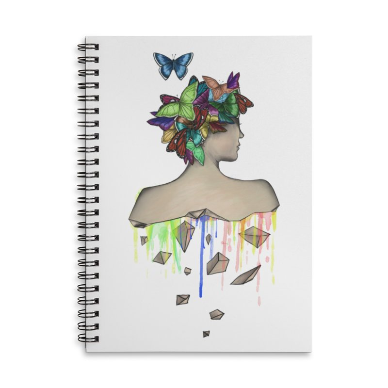 Metamorphosis Girl Accessories Lined Spiral Notebook by Beatrizxe