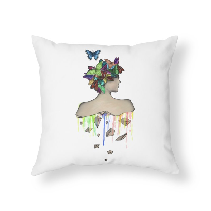 Metamorphosis Girl Home Throw Pillow by Beatrizxe