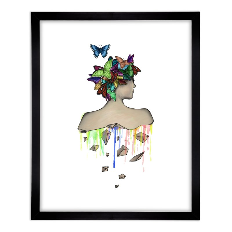 Metamorphosis Girl Home Framed Fine Art Print by Beatrizxe
