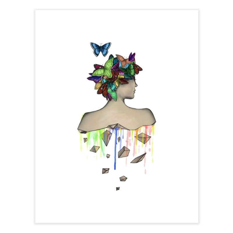 Metamorphosis Girl Home Fine Art Print by Beatrizxe