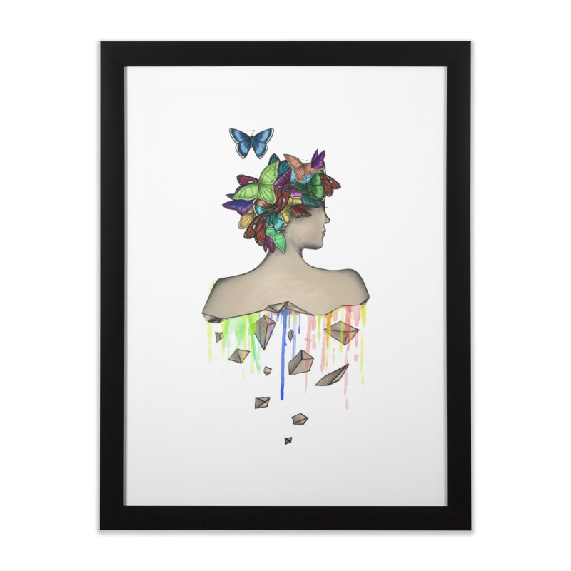 Metamorphosis Girl Home Framed Fine Art Print by Beatrizxe