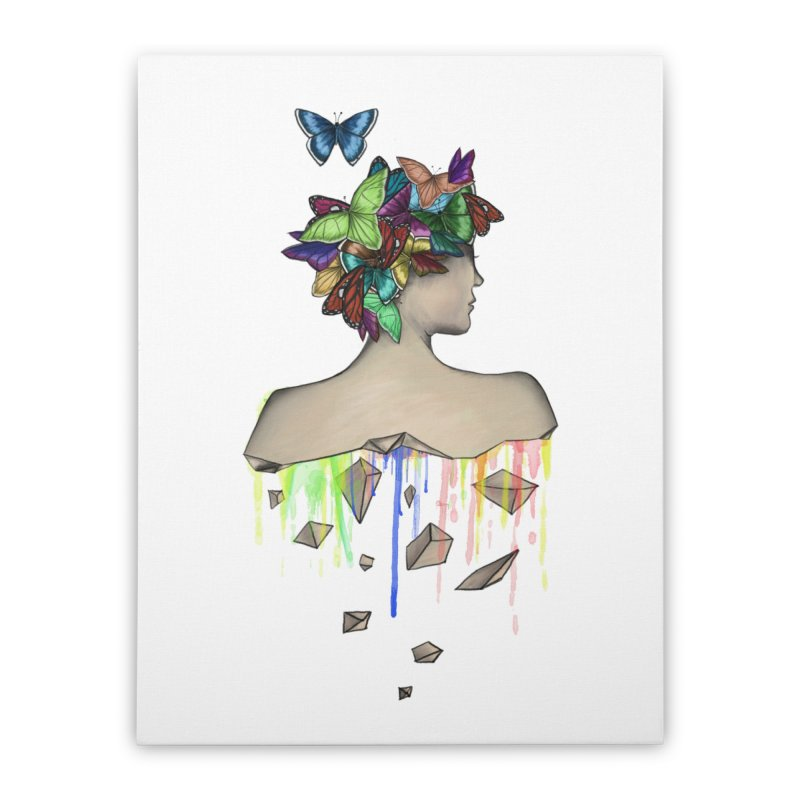 Metamorphosis Girl Home Stretched Canvas by Beatrizxe