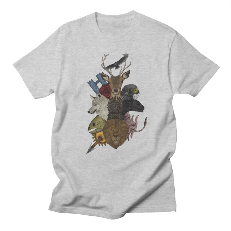 Game of animals. Color Version in Men's Regular T-Shirt Heather Grey by Beatrizxe