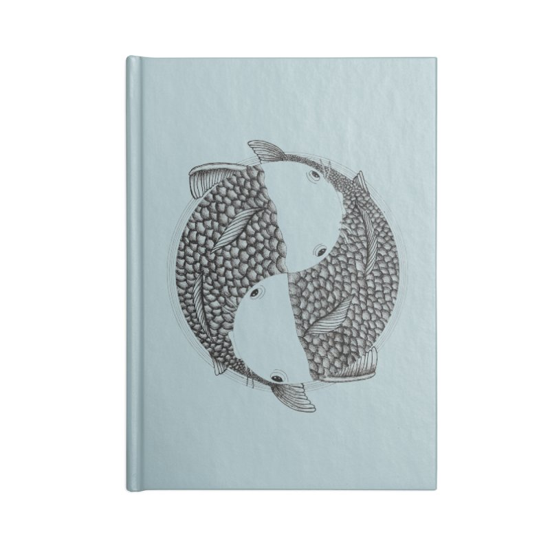 Pisces (Zodiac Sign) in Blank Journal Notebook by Beatrizxe