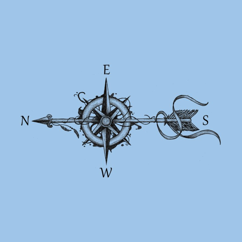 Compass with arrow Men's T-Shirt by Beatrizxe