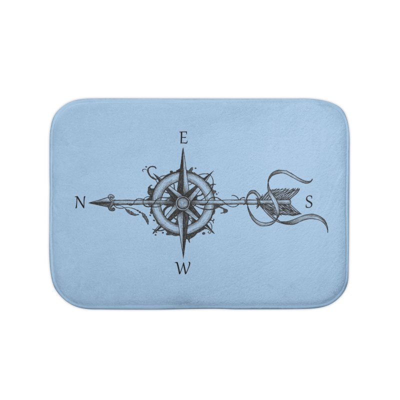 Compass with arrow Home Bath Mat by Beatrizxe