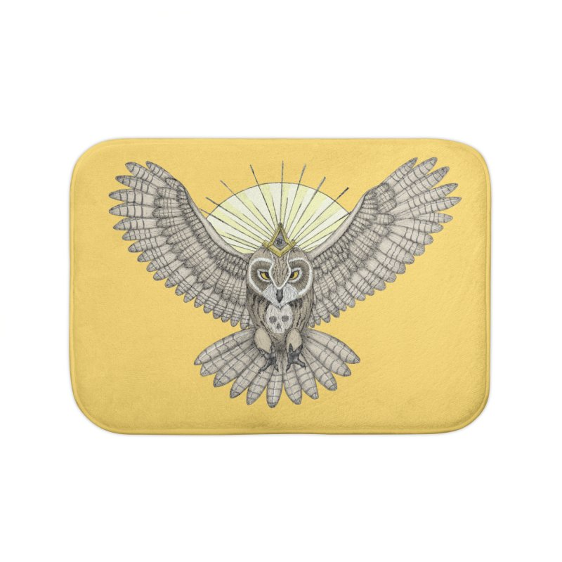 Mason Owl Home Bath Mat by Beatrizxe