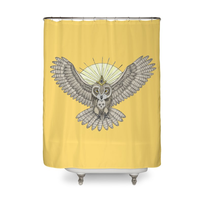 Mason Owl in Shower Curtain by Beatrizxe