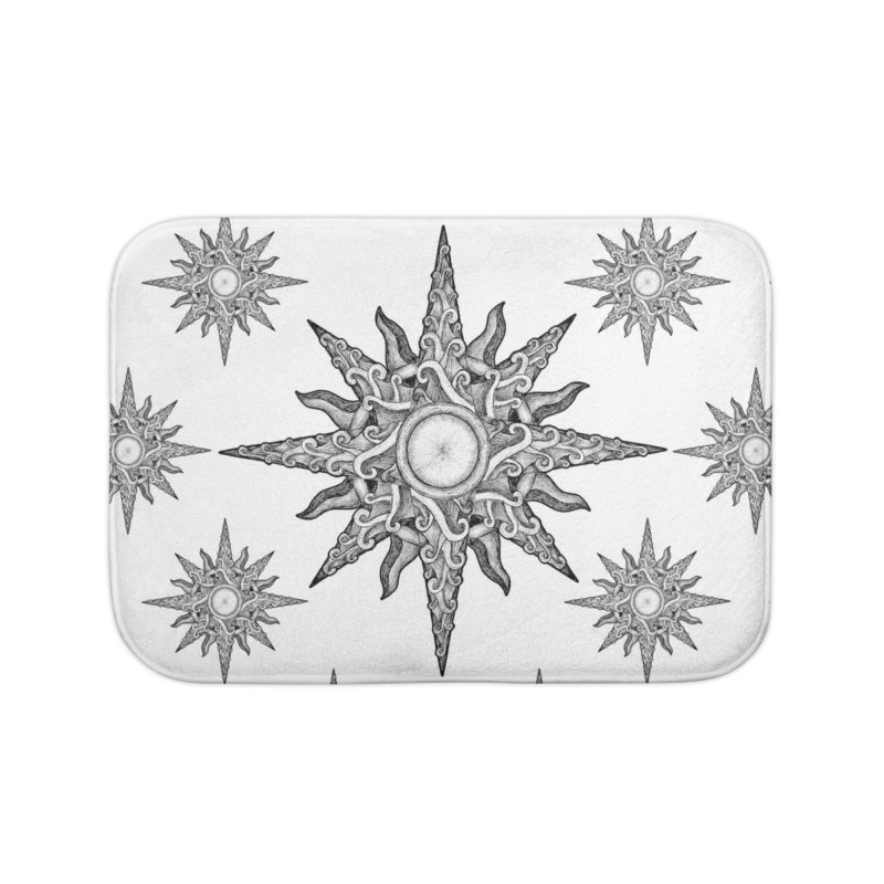 Surf in a windrose – compass (tattoo style) Home Bath Mat by Beatrizxe