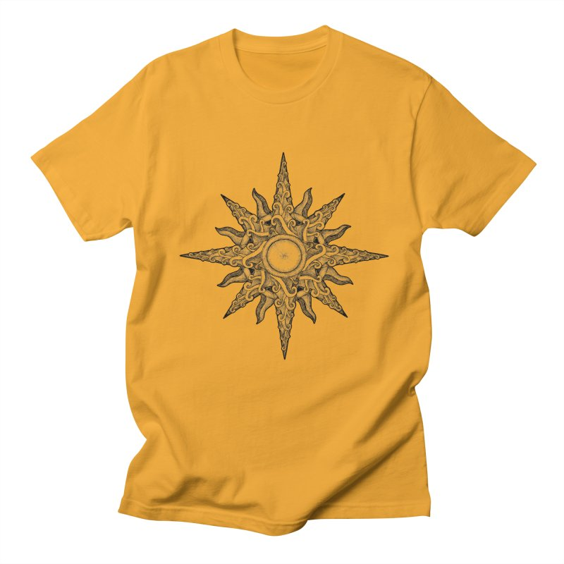 Surf in a windrose – compass (tattoo style) Men's T-Shirt by Beatrizxe