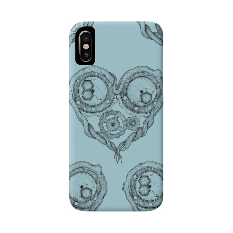 Chemistry of love: dopamine and serotonin formula (Black and white version) Accessories Phone Case by Beatrizxe