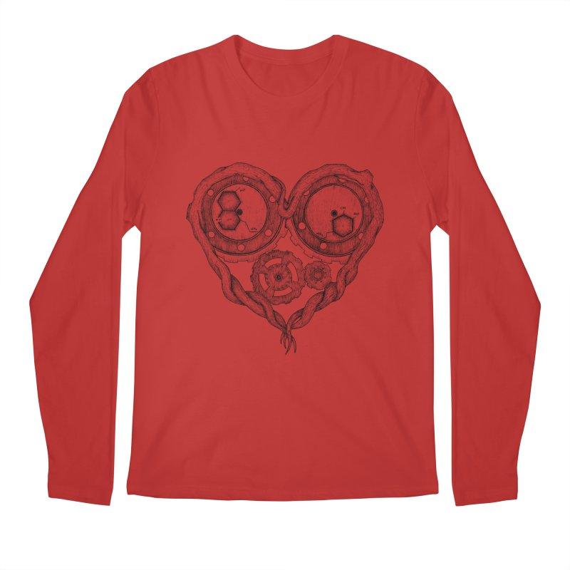 Chemistry of love: dopamine and serotonin formula (Black and white version) Men's Longsleeve T-Shirt by Beatrizxe