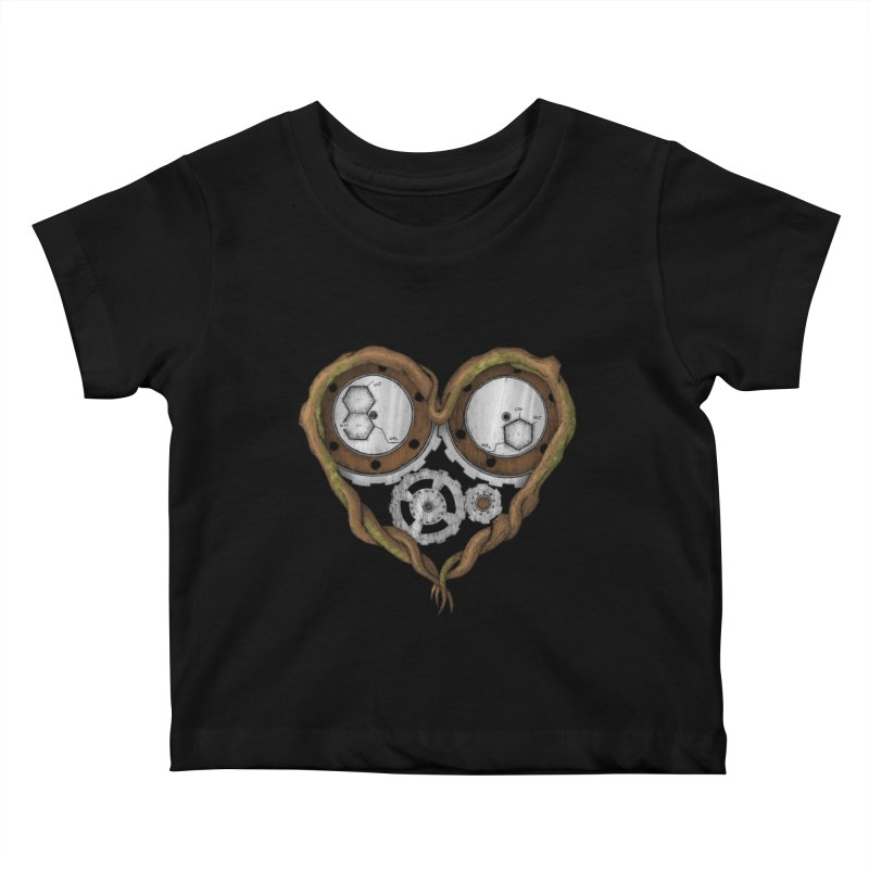 Chemistry of love: dopamine and serotonin formula (Color version) Kids Baby T-Shirt by Beatrizxe
