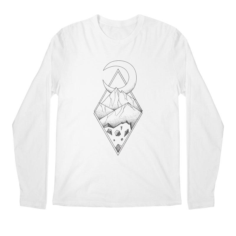 Geometric mountain - optical illusion (tattoo design) Men's Regular Longsleeve T-Shirt by Beatrizxe
