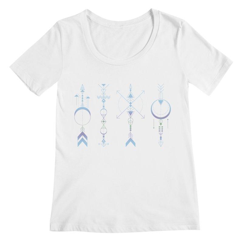 Geometric Arrows - Native American Sioux Women's Regular Scoop Neck by Beatrizxe