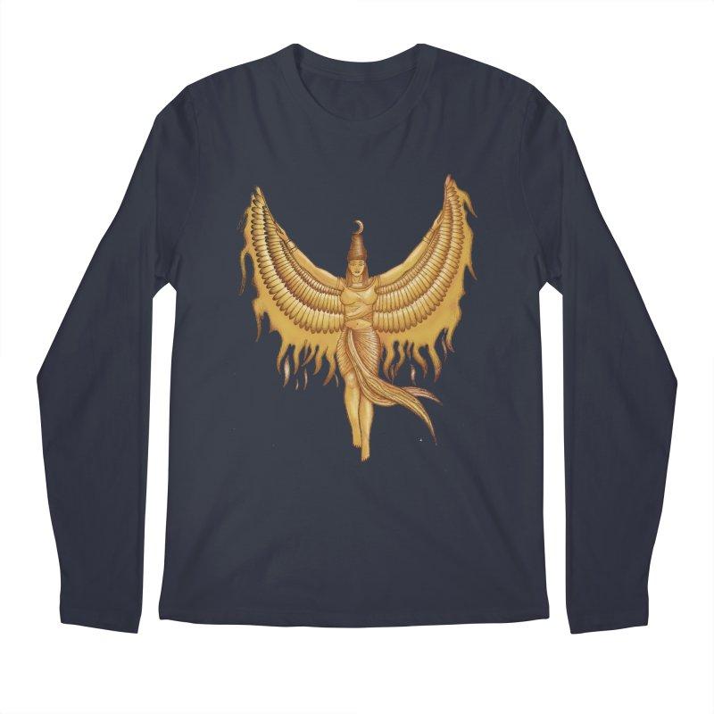 Isis, Goddess Egypt with wings of the legendary bird Phoenix Men's Regular Longsleeve T-Shirt by Beatrizxe