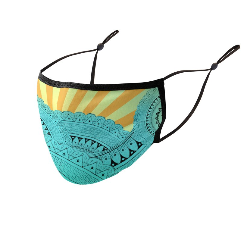 Waves 1 Accessories Face Mask by Beau Stanton