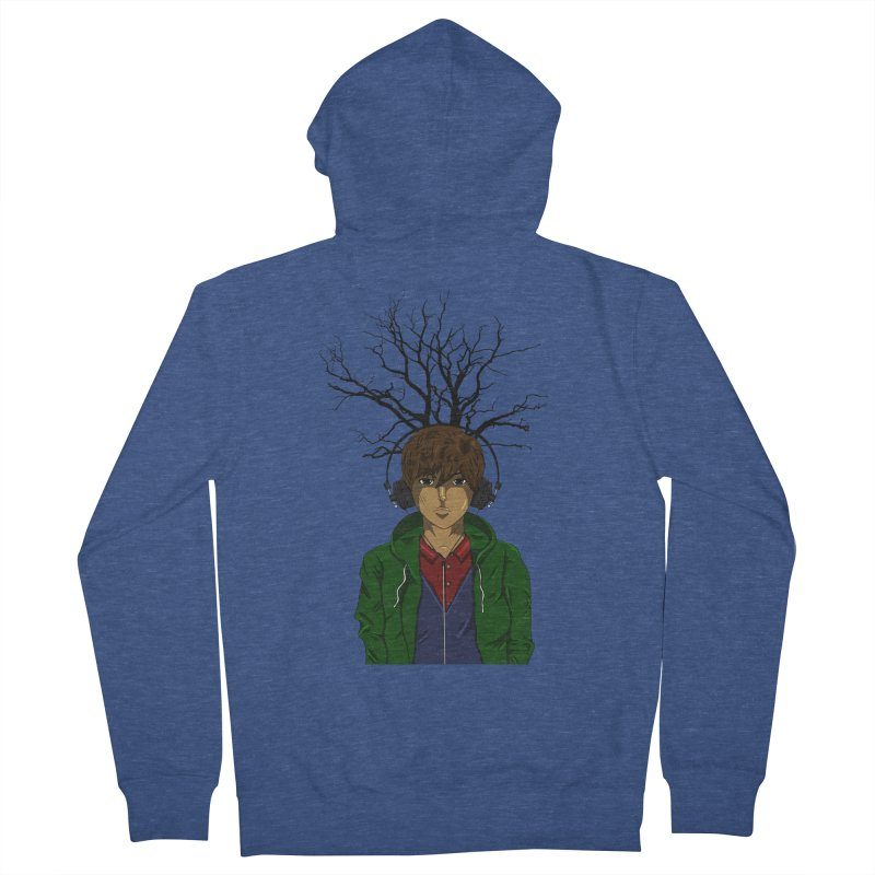 Listening to the Wastes Men's Zip-Up Hoody by beautyinthelines's Artist Shop