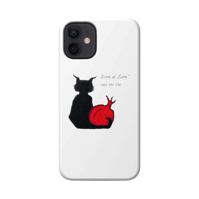 Love is Love, says the Cat Accessories Phone Case by Brigitte Doernerova - Imaginista Designs