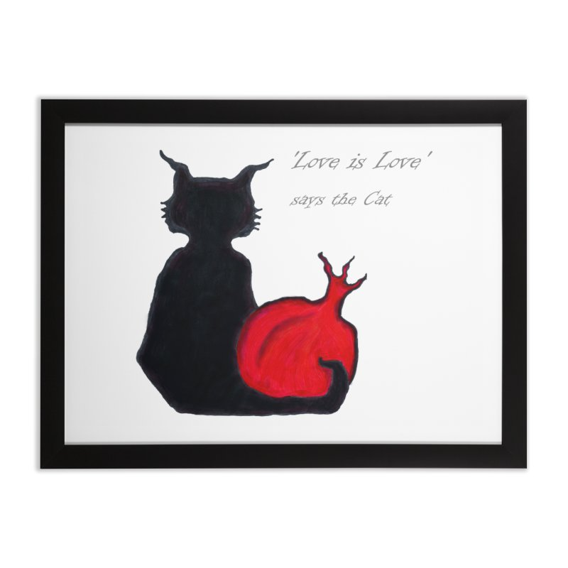 Love is Love, says the Cat Home Framed Fine Art Print by Brigitte Doernerova - Imaginista Designs