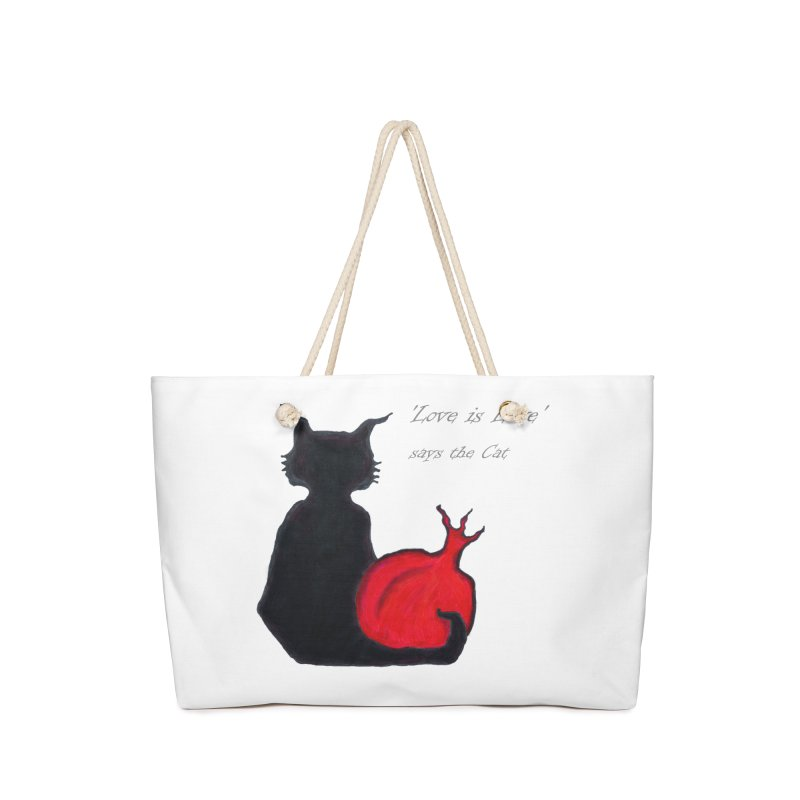 Love is Love, says the Cat Accessories Bag by Brigitte Doernerova - Imaginista Designs