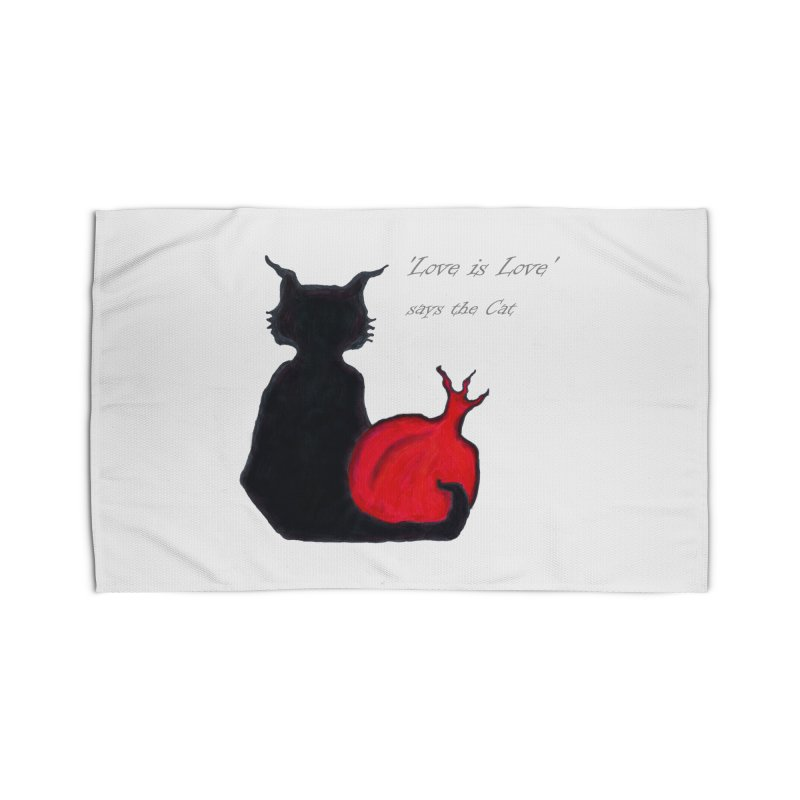 Love is Love, says the Cat Home Rug by Brigitte Doernerova - Imaginista Designs